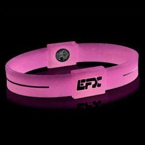 EFXリストバンドスポーツ Pink&White Glow